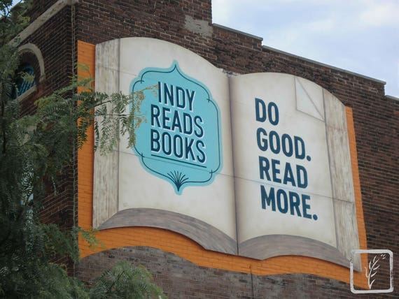 """Read,"" Massachusetts Avenue, Indianapolis, Indiana, 2013"