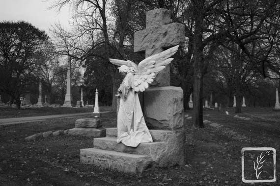 """""""Mourning Angel,"""" Crown Hill Cemetery, Indianapolis, Indiana, 2013."""