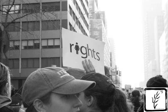"""""""Rights,"""" New York City Women's March, 2017."""