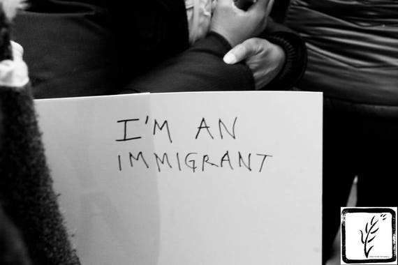 """""""I'm an Immigrant,"""" New York City Women's March, 2017."""