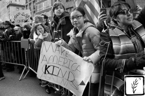 """Make America Kind Again,"" New York City Women's March, 2017."