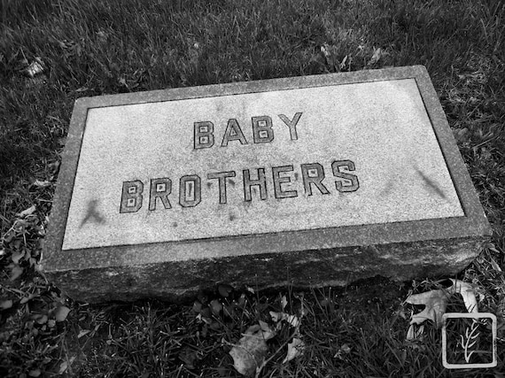 """""""Baby Brothers,"""" Crown Hill Cemetery, Indianapolis, Indiana, 2013."""