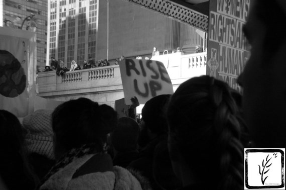 """""""Rise Up Too,"""" New York City Women's March, 2017."""