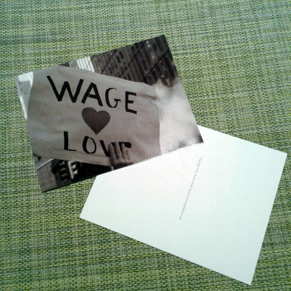 "Packet of Postcards, ""Wage Love"" from the New York City Women's March, 2017."