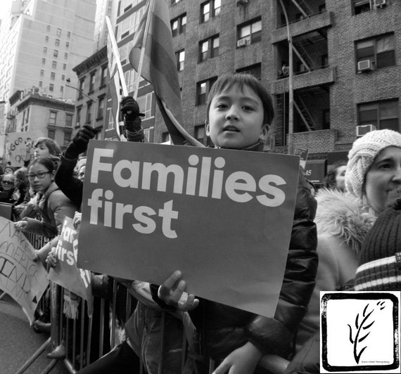 """Families First,"" New York City Women's March, 2017."