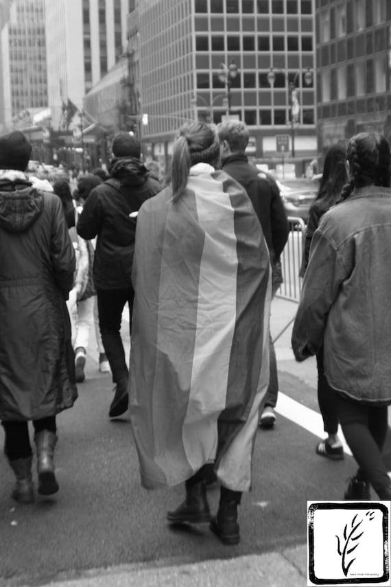 """Rainbow Flag,"" New York City Women's March, 2017."