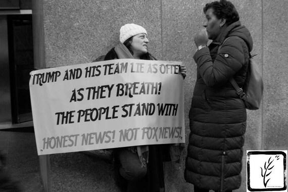 """Honest News,"" New York City Women's March, 2017."