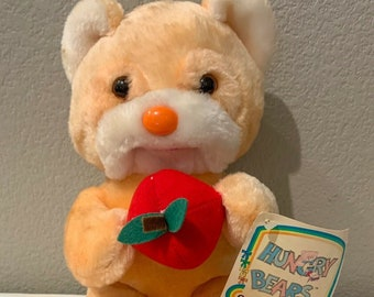 80's Vintage Hungry Bears Plush with Tag Commonwealth