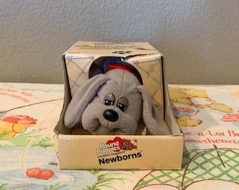 Vintage 1985 Newborn Pound Puppies In Box