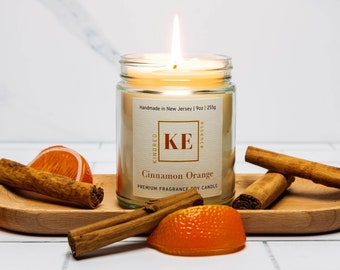 CINNAMON ORANGE Premium Home Fragrance Scented Soy Candle by Kindred Essence