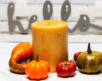 Harvest Spice Scented Candle Pillar, 14 oz  - 397 grams