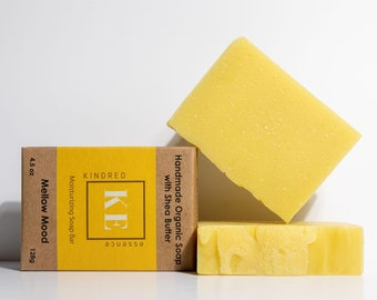 Mellow Mood Natural Organic Shea Butter Moisturizing Soap Bar -  4.5 oz - 128 grams