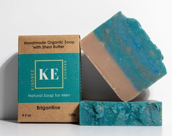 Brigantine Moisturizing Men's Soap Bar with Shea Butter and Essential Oils