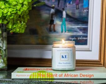 Blue Gardenia Romantic Soy Candle, Gift for Her   Infused with Essential Oils
