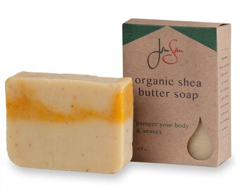 Natural Organic Oatmeal and Honey Soap Bar - Handmade with Shea Butter - Cold Process - 4.5 oz - 128 grams