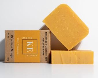 Cinnamon Orange Natural Organic Shea Butter Moisturizing Soap Bar -  4.5 oz - 128 grams