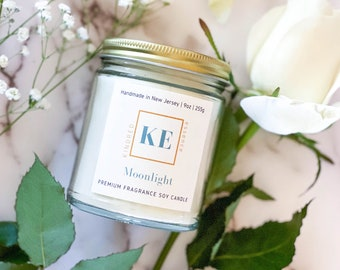 MOONLIGHT Romantic Soy Candle Premium Home Fragrance by Kindred Essence