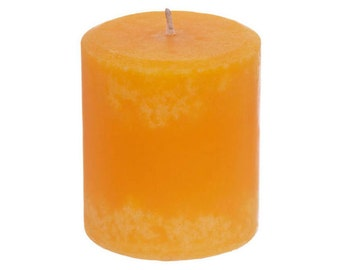 Handmade Orange Scented Pillar Candle