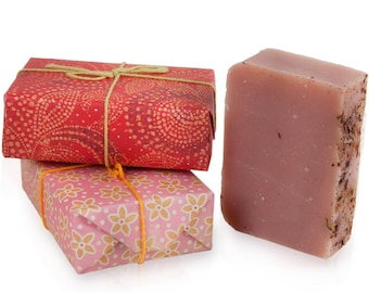 JenSan 2-piece Organic Soap Gift Set - handmade with shea butter and essential oils