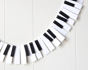 Piano Garland / 88 Key Mini / Music Garland / Recital Garland / Mini Music Bunting / Keyboard Bunting / Photo Prop