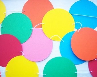 Garland Circles Colorful 5 ft bunting nursery kids party