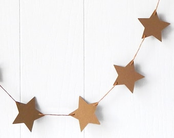 Gold Star Garland / Party Decor / Photo Prop