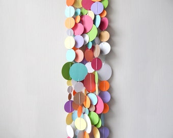 Circle Garland Colorful / Nursery Bunting / Party Garland / Photo Prop / Classroom Decor