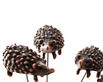 Hedgehog Pin - XL- metal - bronze finish