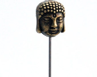 Buddha Bronze Pin,  comes with gold plated clutch