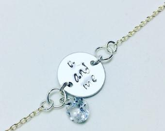 U and me bracelet-gift for her-custom