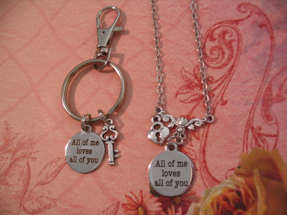 88fb721420 2 All of Me Loves All of You His and Her Couples Key Chain Key | Etsy