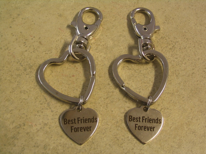 2 Best Friends Forever Purse Charms Key Chains Accessories for Friends or Sisters