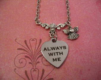 Angel Always With Me Necklace Baby Remembrance or Memorial Gift