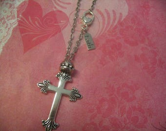 Cross Rear View Mirror Faith Car Charms for Sisters Mother Daughter or Friends Gift