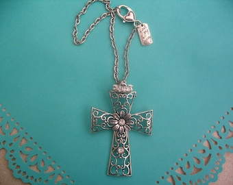 Cross Rear View Mirror Charms Joy for the Journey with Rhinestones Religious Gift