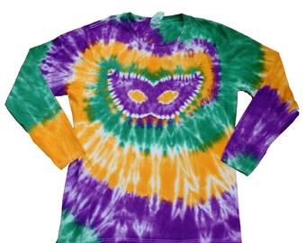 4725981e9504e Mardi Gras Shirt in Yellow Green and Purple Tie Dye Youth | Etsy