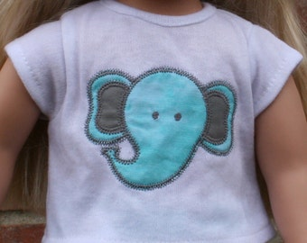 18 inch doll shirt- Elephant shirt for 18 inch dolls-doll shirt-elephant shirt