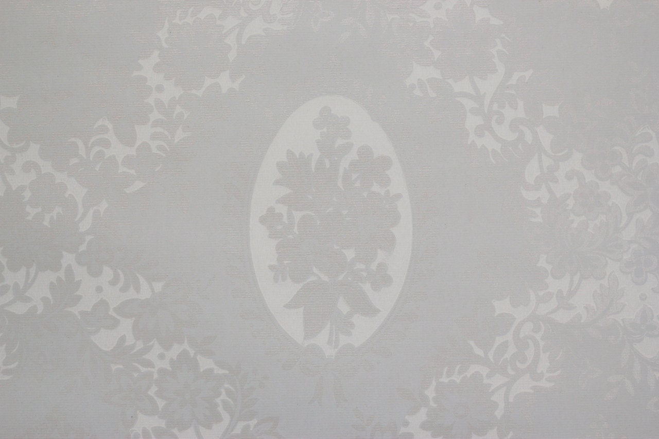1950s Vintage Wallpaper Pale Blue And White Floral Etsy