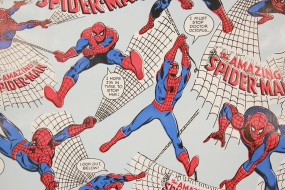 1970s Vintage Adhesive Paper Spider Man Marvel Comics Etsy