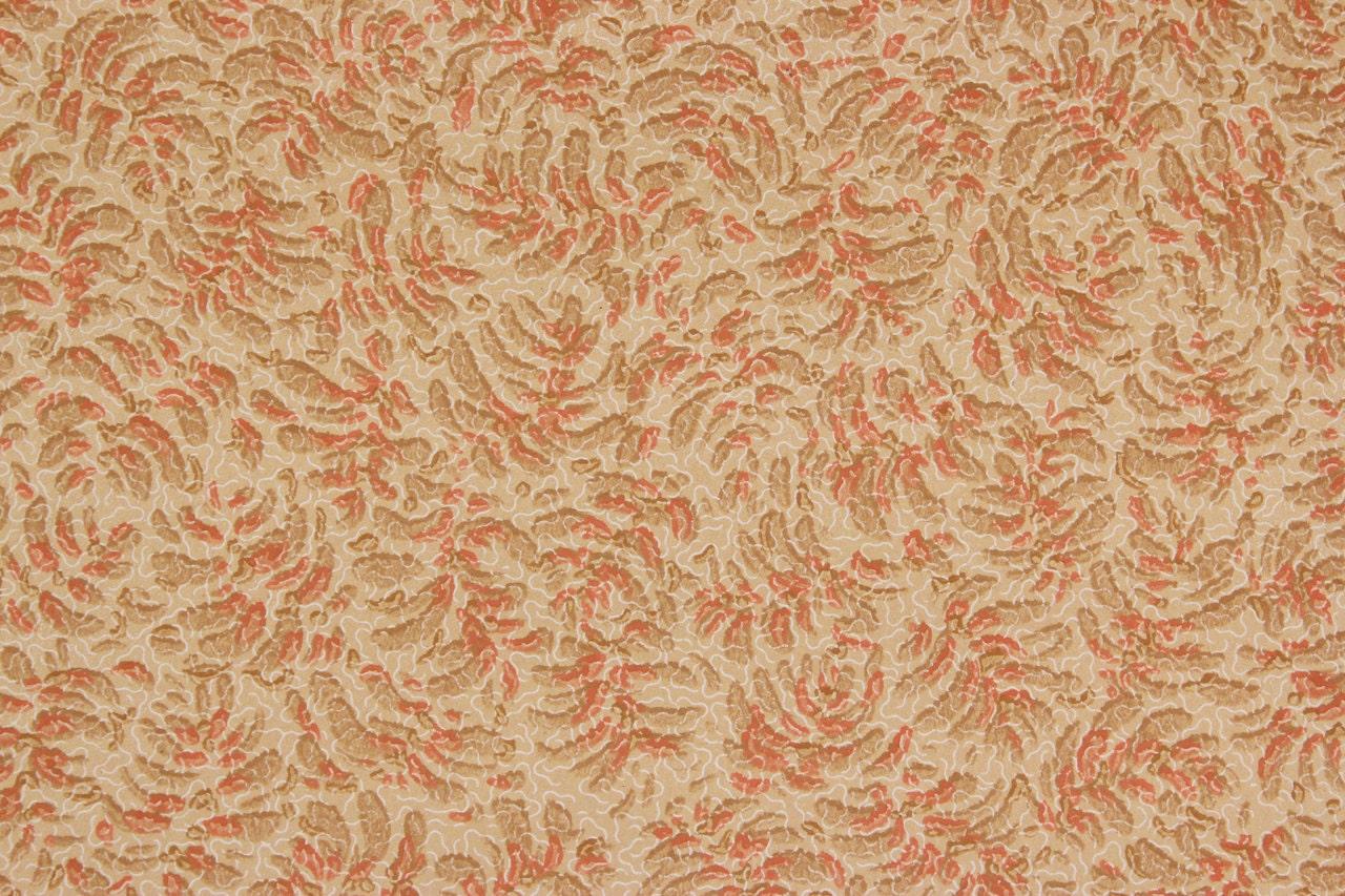 Vintage Antique Des Années 1920 Wallpaper Orange Design Feuille