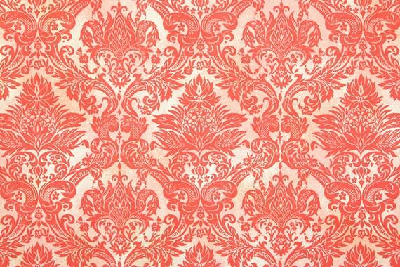Papier Peint Vintage Des Annees 1970 Rouge Paillettes Dor Etsy