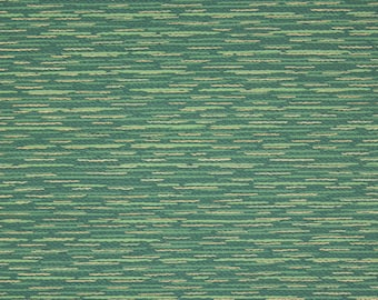 1940s Vintage Wallpaper Green and Gold Metallic Faux Grass Cloth by the Yard