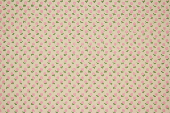 1970s Retro Vintage Wallpaper Small Pink Flowers On Off White Etsy
