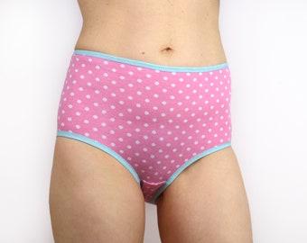 Pink Polka Dot Panties High Rise Lingerie