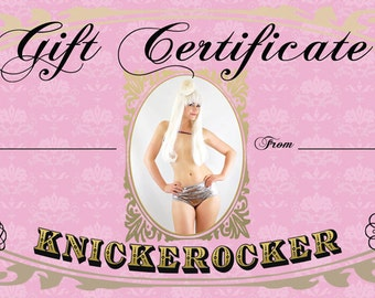 Gift Certificate for 25 Dollars to spend at Knickerocker