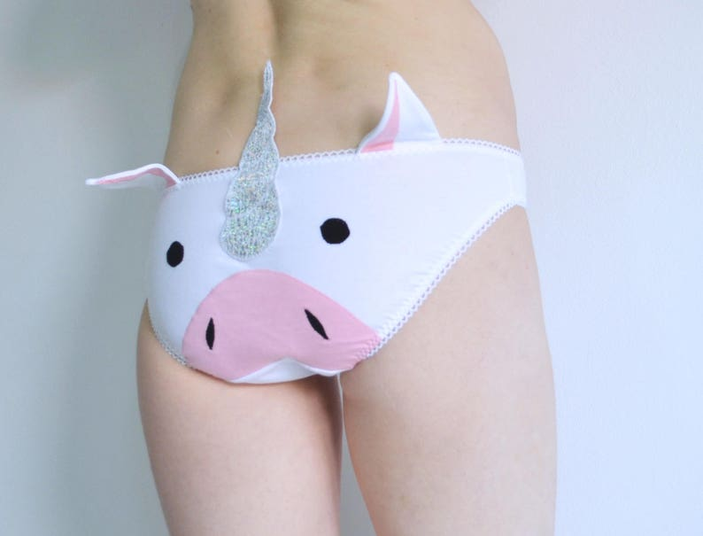 ab54ebb495ca Unicorn panties lingerie with sparkly unicorn horn knickers | Etsy