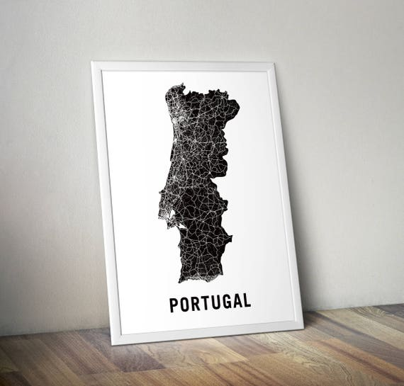 Portugal Map Europe Etsy