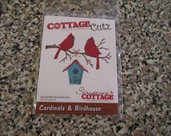 Cottage Cutz, Cardinals & Birdhouse Die