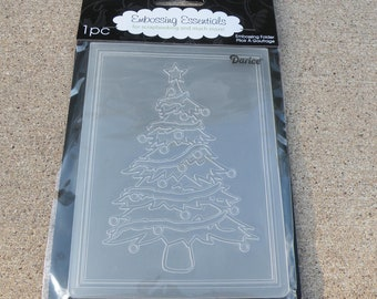 Darice Embossing Essentials, Embossing Folder, Christmas Tree