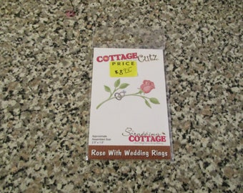 Cottage Cutz, Rose with Wedding Rings Die